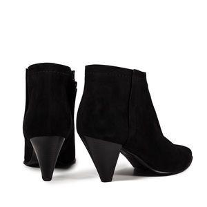 Pedro Garcia Erminia Black Suede Cone Heeled Boots